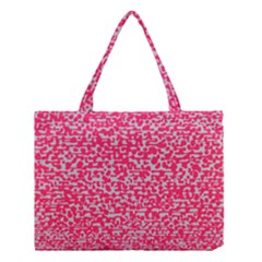 Template Deep Fluorescent Pink Medium Tote Bag by Amaryn4rt