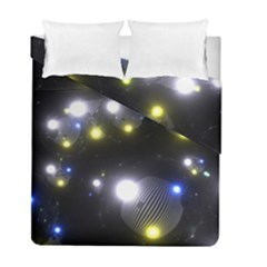 Abstract Dark Spheres Psy Trance Duvet Cover Double Side (full/ Double Size) by Amaryn4rt