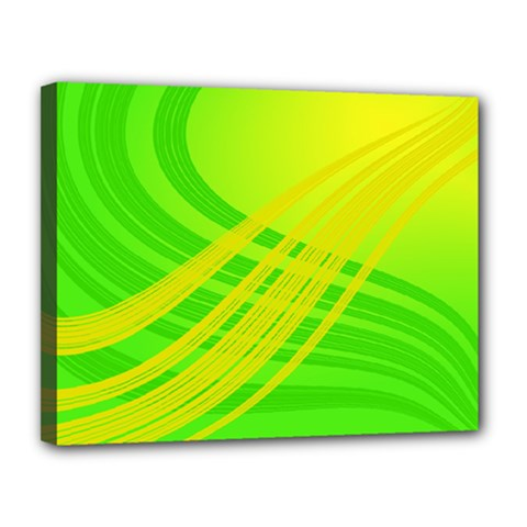 Abstract Green Yellow Background Canvas 14  X 11  by Amaryn4rt
