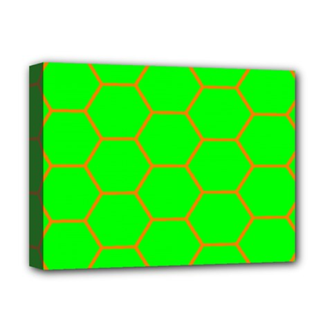 Bee Hive Texture Deluxe Canvas 16  X 12   by Amaryn4rt