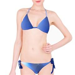 Blue Star Background Bikini Set