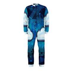 Circuit Computer Chip Cloud Security Onepiece Jumpsuit (kids) by Amaryn4rt