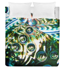 Dark Abstract Bubbles Duvet Cover Double Side (queen Size) by Amaryn4rt