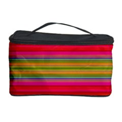 Fiesta Stripe Colorful Neon Background Cosmetic Storage Case by Amaryn4rt