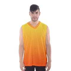 Rainbow Yellow Orange Background Men s Basketball Tank Top by Amaryn4rt