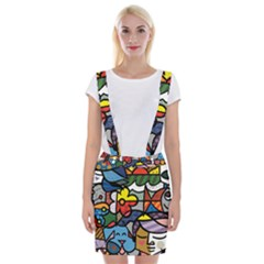 Colorful Braces Suspender Skirt by Wanni