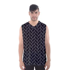 Brick2 Black Marble & White Marble Men s Basketball Tank Top by trendistuff