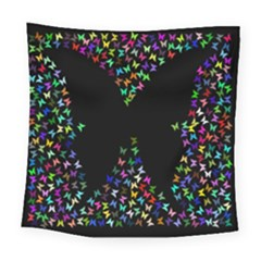Space Butterflies Square Tapestry (large) by AnjaniArt