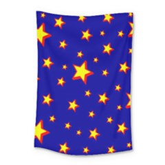 Star Blue Sky Yellow Small Tapestry by AnjaniArt