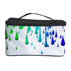 Paint Drops Artistic Cosmetic Storage Case by Onesevenart