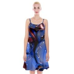 Spheres With Horns 3d Spaghetti Strap Velvet Dress