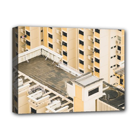 Apartments Architecture Building Deluxe Canvas 16  X 12   by Amaryn4rt