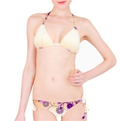 Floral Background Bikini Set