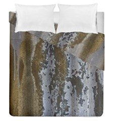 Grunge Rust Old Wall Metal Texture Duvet Cover Double Side (queen Size) by Amaryn4rt