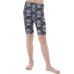 Sugar Skull Kids  Mid Length Swim Shorts