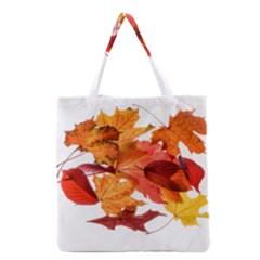 Autumn Leaves Leaf Transparent Grocery Tote Bag