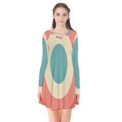 Circles Colorful Bull s Eye Flare Dress by Jojostore