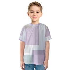 Abstract Background Pattern Design Kids  Sport Mesh Tee