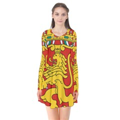 Lesser Coat Of Arms Of Bulgaria  Flare Dress by abbeyz71