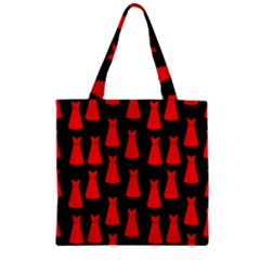 Dresses Seamless Pattern Zipper Grocery Tote Bag by Nexatart