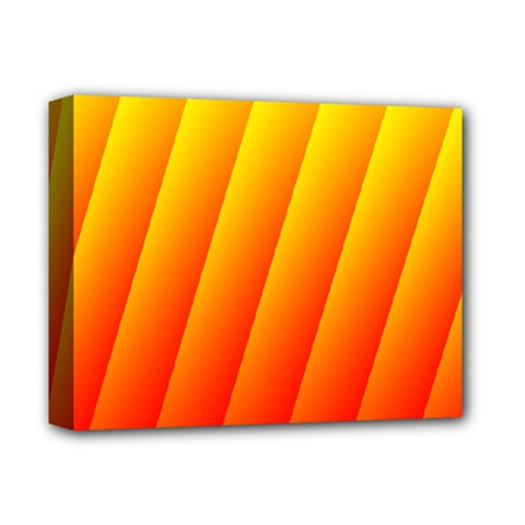 Graphics Gradient Orange Red Deluxe Canvas 14  x 11  by Nexatart