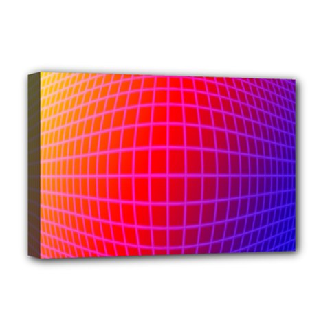 Grid Diamonds Figure Abstract Deluxe Canvas 18  X 12   by Nexatart