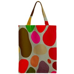 Pattern Design Abstract Shapes Zipper Classic Tote Bag by Nexatart