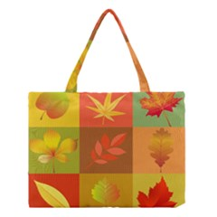 Autumn Leaves Colorful Fall Foliage Medium Tote Bag by Nexatart