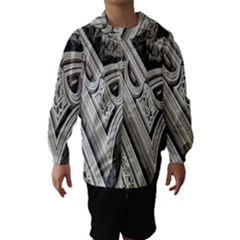 Arches Fractal Chaos Church Arch Hooded Wind Breaker (kids) by Nexatart