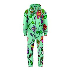 Flowers Floral Doodle Plants Hooded Jumpsuit (kids) by Nexatart