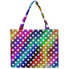 Pattern Template Shiny Mini Tote Bag by Nexatart