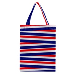 Red White Blue Patriotic Ribbons Classic Tote Bag by Nexatart