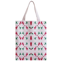 Reindeer Pattern Zipper Classic Tote Bag by Nexatart