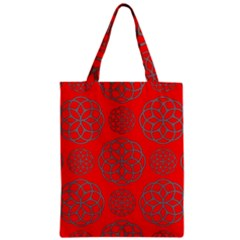 Geometric Circles Seamless Pattern Zipper Classic Tote Bag by Nexatart
