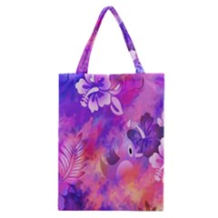Abstract Flowers Bird Artwork Classic Tote Bag by Nexatart