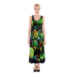 Abstract Balls Color About Sleeveless Maxi Dress
