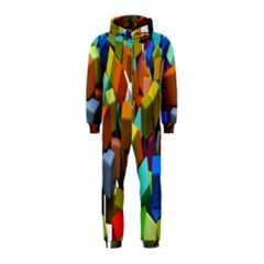 Cubes Assorted Random Toys Hooded Jumpsuit (kids) by Nexatart