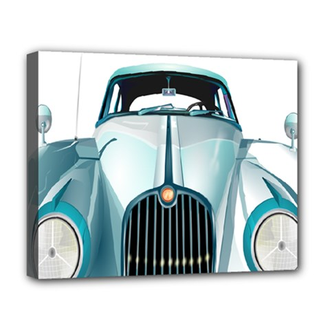Oldtimer Car Vintage Automobile Deluxe Canvas 20  x 16   by Nexatart