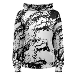 Santa Claus Christmas Holly Women s Pullover Hoodie