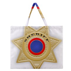 Sheriff S Star Sheriff Star Chief Zipper Large Tote Bag by Nexatart