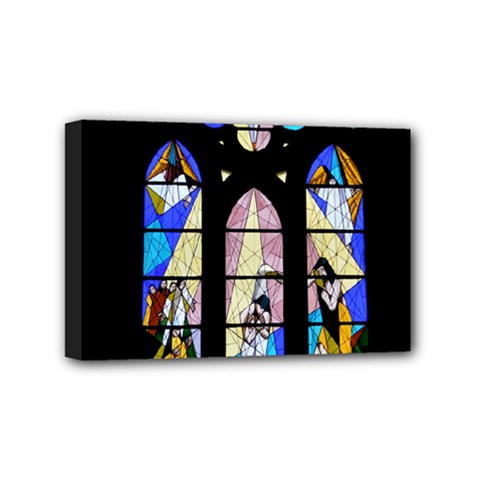Art Church Window Mini Canvas 6  X 4  by Nexatart