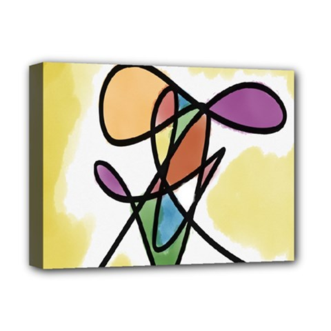 Art Abstract Exhibition Colours Deluxe Canvas 16  X 12   by Nexatart