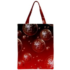 Background Red Blow Balls Deco Zipper Classic Tote Bag by Nexatart