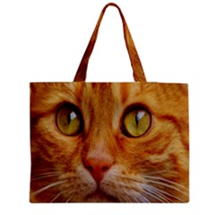 Cat Red Cute Mackerel Tiger Sweet Medium Tote Bag by Nexatart