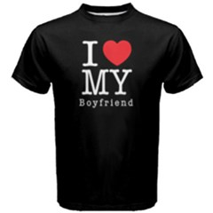 I Love My Boyfriend    Men s Cotton Tee by FunnySaying