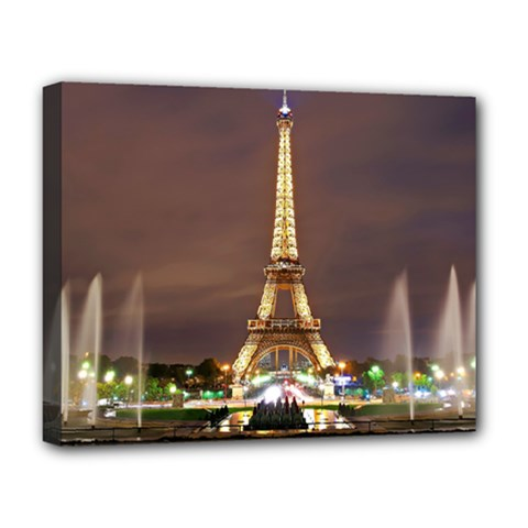 Paris Eiffel Tower Deluxe Canvas 20  x 16   by Nexatart