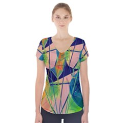 New Form Technology Short Sleeve Front Detail Top by Nexatart