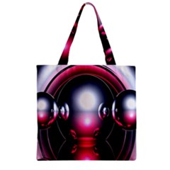 Red 3d  Computer Work Zipper Grocery Tote Bag by Nexatart