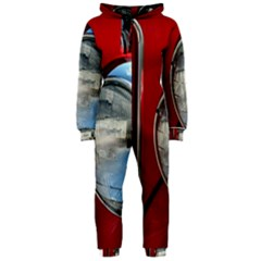 Antique Car Auto Roadster Old Hooded Jumpsuit (ladies)