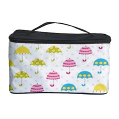 Umbrella Tellow Blue Red Pink Green Color Rain Kid Cosmetic Storage Case by Jojostore